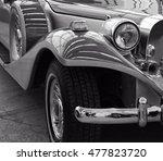 stunning retro car. stylish... | Shutterstock . vector #477823720