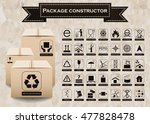 vector package constructor.... | Shutterstock .eps vector #477828478