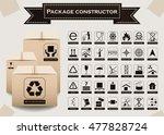 vector package constructor.... | Shutterstock .eps vector #477828724
