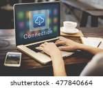 application connection digital... | Shutterstock . vector #477840664