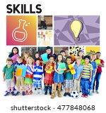 science biology academic... | Shutterstock . vector #477848068