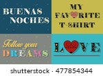 cards with inscriptions by... | Shutterstock .eps vector #477854344