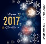 2017 happy new year gold glossy ... | Shutterstock .eps vector #477862000
