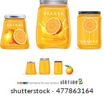 delicious orange juice in a... | Shutterstock .eps vector #477863164