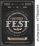 vector oktoberfest beer... | Shutterstock .eps vector #477866044
