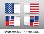set of veterans day brochure ... | Shutterstock .eps vector #477866803