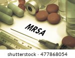 mrsa  methicillin resistant... | Shutterstock . vector #477868054