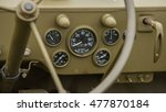Dashboard Of A 1940's Military...