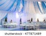 wedding decorations in banquet... | Shutterstock . vector #477871489