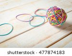 rubber bands and a rubber band... | Shutterstock . vector #477874183