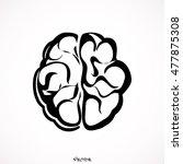 brain icon   Shutterstock .eps vector #477875308