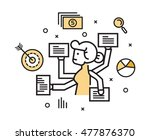 businesswoman with multi... | Shutterstock .eps vector #477876370