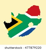 south africa vector map | Shutterstock .eps vector #477879220