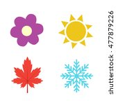 four seasons icon symbol vector ... | Shutterstock .eps vector #477879226