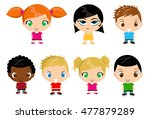 group of kids vector... | Shutterstock .eps vector #477879289