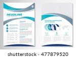 vector brochure flyer design... | Shutterstock .eps vector #477879520
