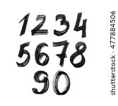 set of numbers. painted by... | Shutterstock .eps vector #477884506