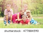 portrait of childrens in the... | Shutterstock . vector #477884590