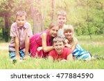 portrait of childrens in the... | Shutterstock . vector #477884590