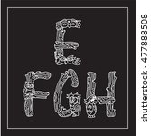 vector english alphabet  type ... | Shutterstock .eps vector #477888508