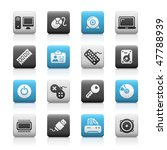 computer   devices web icons    ... | Shutterstock .eps vector #47788939
