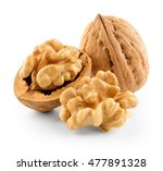 Walnut Isolated On White...