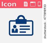 identification card flat vector ... | Shutterstock .eps vector #477898933