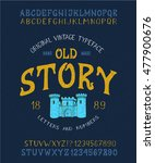 font old story. hand crafted...   Shutterstock .eps vector #477900676