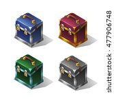 cartoon colorful isometric...