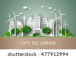 concept of eco with building... | Shutterstock .eps vector #477912994