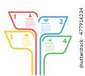 four steps sequence infographic ... | Shutterstock .eps vector #477916234