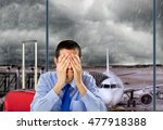 businessman crying by delayed...   Shutterstock . vector #477918388