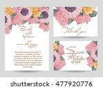 invitation with floral... | Shutterstock .eps vector #477920776