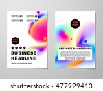 cover template with abstract... | Shutterstock .eps vector #477929413