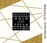 Abstract Design With Gold...