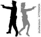 woman police officer and...   Shutterstock .eps vector #477930454