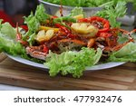 fried crabs  kepiting goreng... | Shutterstock . vector #477932476