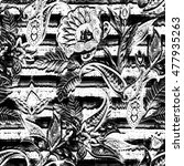 seamless paisley pattern. boho... | Shutterstock . vector #477935263