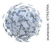 white sphere exploded to... | Shutterstock . vector #477937954
