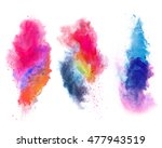 explosions of colored powder ... | Shutterstock . vector #477943519