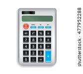 realistic grey simple... | Shutterstock .eps vector #477952288