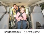 a disabled child in a... | Shutterstock . vector #477953590