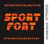 oblique  alphabet vector font....   Shutterstock .eps vector #477953920
