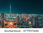 toned nighttime skyline with... | Shutterstock . vector #477957640