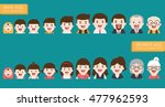 people generations avatars... | Shutterstock .eps vector #477962593
