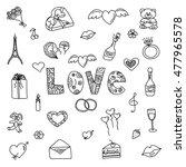 love doodle set. | Shutterstock .eps vector #477965578
