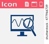 monitoring vector flat icon