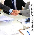 business people handshake ... | Shutterstock . vector #477973903