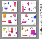 set of artistic colorful... | Shutterstock .eps vector #477976474