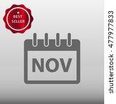 calendar november vector icon...